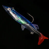 Night Fishing 5Pcs Minnow Lure Crank Bait Hooks Bass Fish Crankbait Tackle