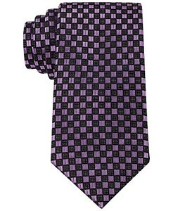 NewSean John Men's Highlight Neat Patterned Silk Purple Necktie Tie MA1117