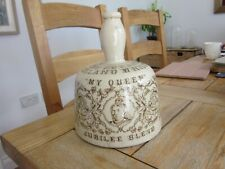 VERY GOOD MY QUEEN ADVERTISING STONEWARE WHISKY MALLET JUG