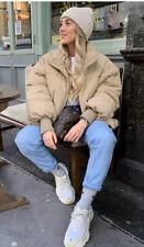 Zara Dark Beige Water Resistant Oversized Puffer Jacket Size M Genuine