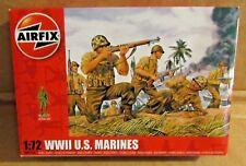 AIRFIX WW2 U.S. MARINES 1:72 SCALE MODEL SOLDIERS UNPAINTED PLASTIC
