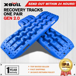 X-BULL Recovery Tracks Boards Trucks 10T Sand Mud 4WD Accessories Blue Gen2.0