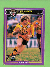 1987  BALMAIN TIGERS  RUGBY LEAGUE CARD #8  KEVIN  HARDWICK & CHECKLIST