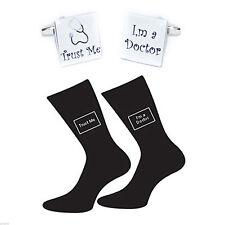 Trust me Doctor Socks Gift Set Bocs050-X6S038 Trust me I'm a Doctor Cufflinks &