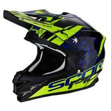 Casco Moto Cross Scorpion Vx 15 KISTUNE Black Blue Neon Yellow TG M