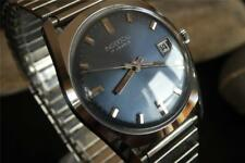 CLASSY VINTAGE DATE WATCH INGERSOLL SWISS 17 J SERVICED CAL 1215 STEEL BAND 1970