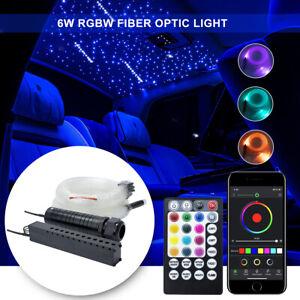 6W RGB LED Fiber Optic Engine Driver Light Source Decoration Lamp12keyRemote
