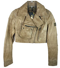 Authentic Belstaff Leather Jacket MINI BLOUSON Riding Size 38 Made in Italy