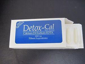 EDTA--Detox-Cal 1000 MG ( Calcium Di-sodium EDTA) Suppositories.
