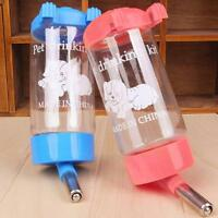 Pet Dog Rabbit Water Drinker Dispenser Hang Bottle Auto Fountain Feeder 500ML