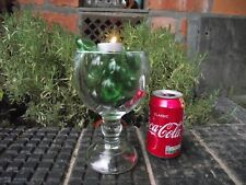 Lrg Heavy Clear Glass Wine Chalice Belgian Beer Goblet + 17 Blown Glass Pebbles