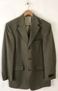 NWT BILL BLASS Mens Size 38R Olive Green Camel Hair Blazer Sport Coat RV $350