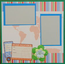 12X12 OUR VACATION TRAVEL PREMADE SCRAPBOOK PAGE LAYOUT MSND - TONYA