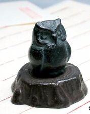 Nanbu tekki Japanese cast iron paper weight Bunchin owl Fukurou made in japan