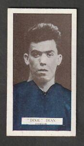 PATTREIOUEX tobacco Manchester FOOTBALL Soccer EVERTON Dixie Dean issued 1927