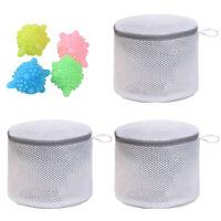 3pcs Mesh Laundry Bags Underwear Bra Lingerie Clothes Wash Bag with Zipper Lock