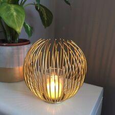 ec9421c36c Gold Candle Holder Wire Large Round Ball Tea Light Votive Modern Decor  Sphere