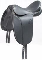 """New Beautiful black Dressage leather Saddle SIZE 17.5"""""""