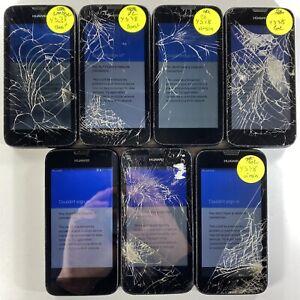 Lot of 7 GoogleLocked CrackedGlass Huawei Union Y538 Virgin/Boost *Check IMEI*