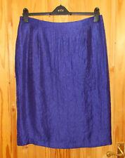 KALEIDOSCOPE electric cobalt blue-purple sheen taffeta midi knee skirt BNWT 16