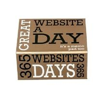 Website A Day 365 Websites Memo Note Pad NEW Lagoon Games
