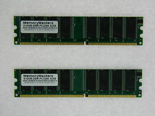 1GB (2X512MB) MEMORY FOR BIOSTAR P4M80-M7A V7.X P4M800 PRO-M7 COMBO P4TCA PRO