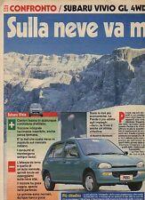 W4 Ritaglio Clipping 1994 test Subaru Vivio GL 4WD Fiat Panda 4x4 Country Club