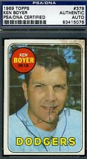 KEN BOYER SIGNED PSA/DNA 1969 TOPPS CERTIFIED AUTHENTIC AUTOGRAPH