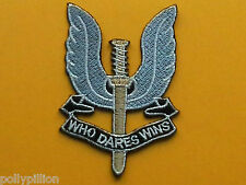 MILITARY SPECIAL FORCES SEW ON / IRON ON PATCH:- S.A.S. SPECIAL AIR SERVICE (a)