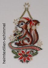 PLAUENER SPITZE ® Fensterbild WINTER Weihnachten EICHHÖRNCHEN Tiere STERN
