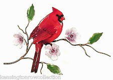 Wall Art - Cardinal In Flowering Cherry Tree Metal Wall Sculpture - Wall Decor