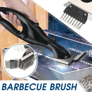 Barbecue Stainless Steel BBQ Cleaning Brush Outdoor Grill Cleaner Cooking  @#