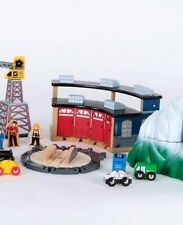 Wooden Trains~Roundhouse+Turntable ONLY~Thomas/BRIO Comp~Boys-Girls 3+FREEship