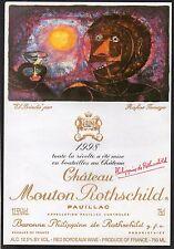 PAUILLAC 1EGCC ETIQUETTE CHATEAU MOUTON ROTHSCHILD 1998 75 CL EXPORT §06/03/17§
