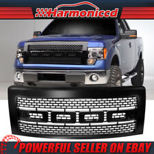 Fits 09-14 Ford F150 Raptor Style Luxury Front Bumper Hood Grille Grill Black