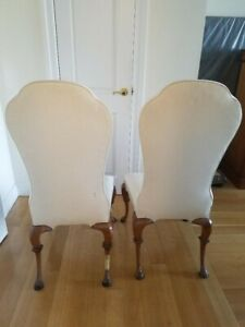 High Side Dining Chairs, curved legs, claw feet, graceful lines