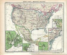 Cartina Economica Stati Uniti.Carta Geografica Stati Uniti In Vendita Ebay