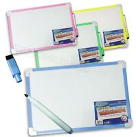 Clever Kidz - Magnetic Whiteboard & Magnetic Dry Wipe Marker Pen with Eraser.