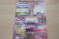 221951) Magirus Deutz - Modellprogramm - Prospekt 1974