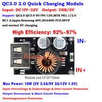 QC3.0 5V 9V 12V USB Fast Quick Charging PCB Module Board DIY Phone Charger Car