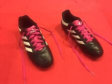 Adidas Youth Girls Soccer Cleats Size 3.5 Black White Pink Cute!!