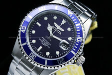 NEW Invicta Pro Diver COIN EDGE bezel Blue Dial Stainless Steel Bracelet Watch