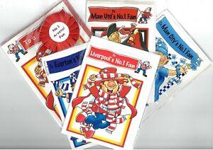 Football Fans Birthday Cards - Liverpool, Everton, Man Utd, Man City & Arsenal