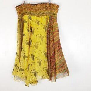 Soft Surroundings Smocked Strapless Dress Sz L
