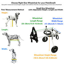 AnmasBox New Adjustable SMALL 2-Wheel Pet Wheelchair Dog & Cat Handicapped Tool