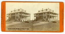 J1265~ President Ulysses Grant Long Branch NJ Cottage Stereoview by Pach