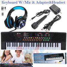54 Key Music Electronic Keyboard Electric Digital Piano Organ with Mic & Headset