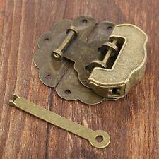 Stylish Jewelry Box Chest Trunk Padlock Lock Key Toggle Latch Clasp Set Hardware