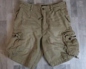Vintage Abercrombie and Fitch Cargo Shorts Heavyweight Distressed Mens Size 33