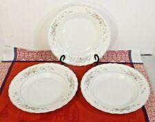 "Set of 3 ARCOPAL 9"" Large Rimmed glass Soup Bowls VICTORIA  FRANCE"